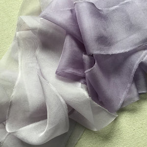 Purple Silk Chiffon: Light and Medium
