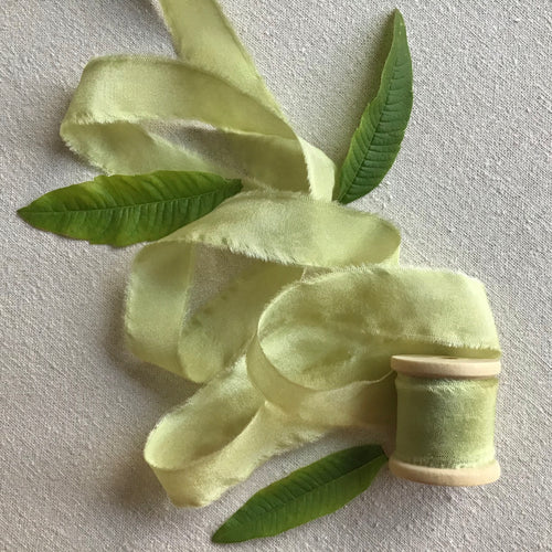 Soft Green Silk Ribbon