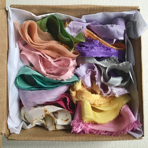A box of silk ribbons ~ Pastels or Brights