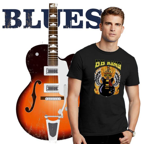 Blues Music Men's T-Shirt Collection. ALTOSAXO Music Apparel Online Shop.