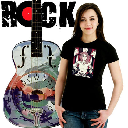 Rock Music Ladies T-Shirt Collection. ALTOSAXO Music Apparel Online Shop.