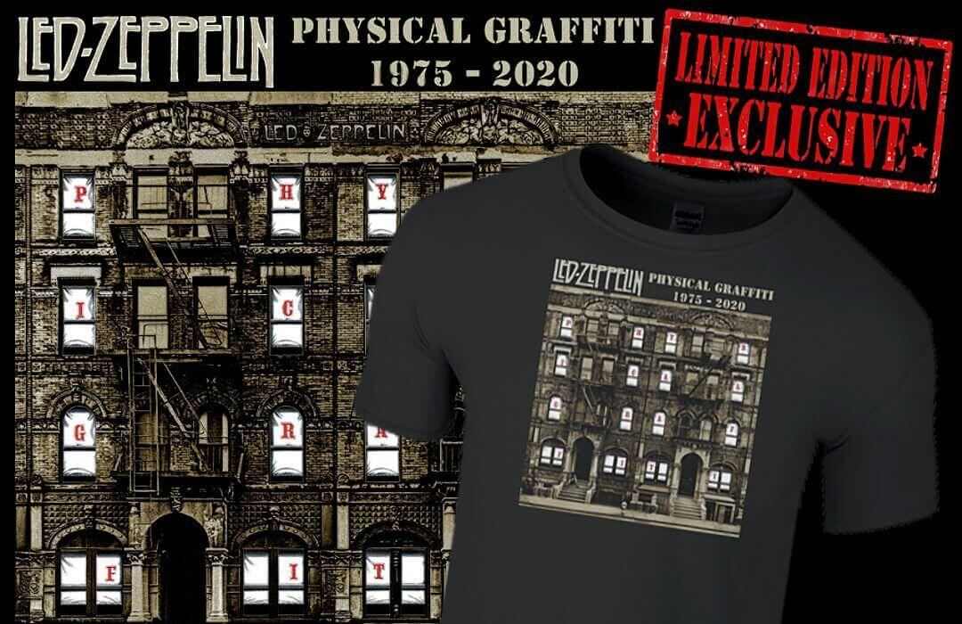 Led Zeppelin Physical Graffiti 1975 - 2020 Limited Edition T-Shirt