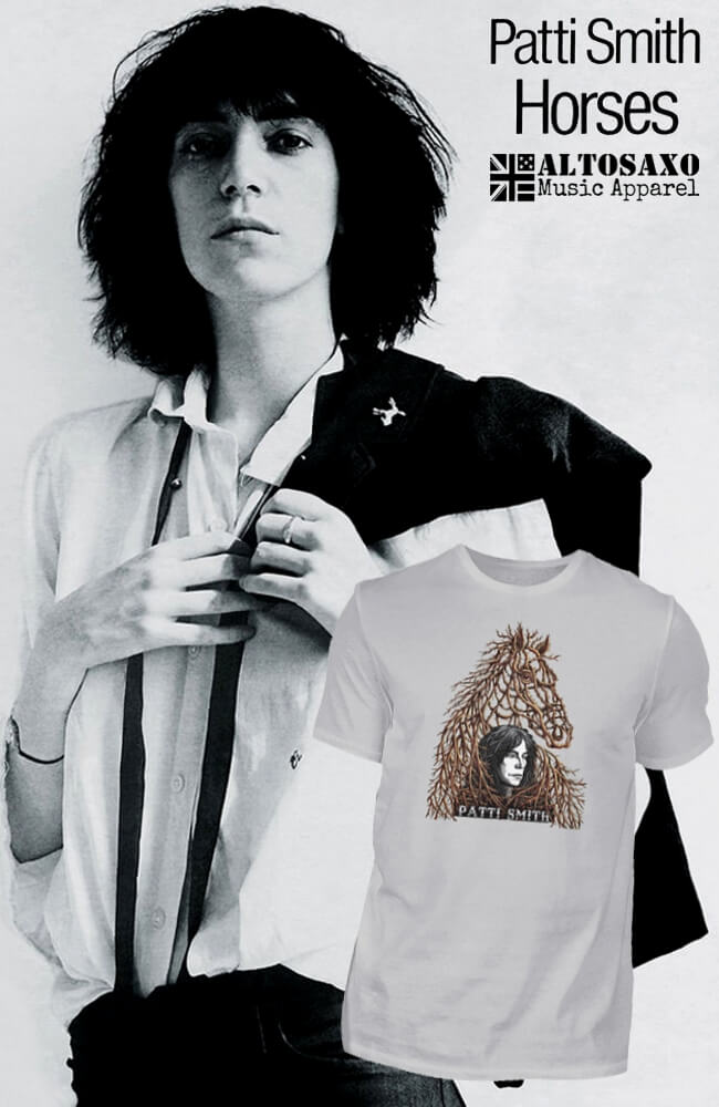 Patti Smith 1975 Horses Limited Edition T-Shirt Patti Smith Licensed Merchandise