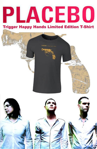 Placebo Trigger Happy Hands Rock Band Men/'s Black T-Shirt Size S to 3XL