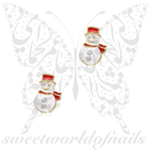 3D Christmas Nail Decoration Charms Snowman / 2pcs