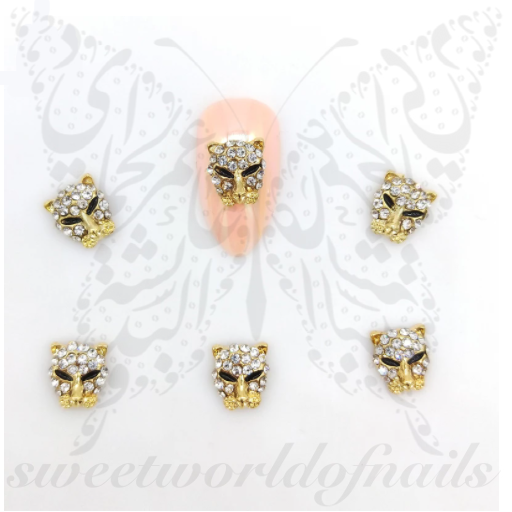3D Leopard Nail Art Charms Resins Studs