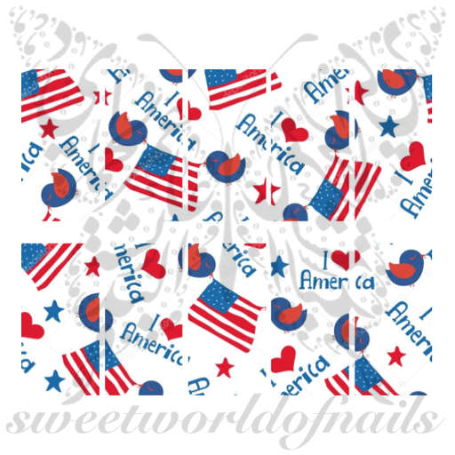 Fourth Of July USA Flags Water Full Wraps