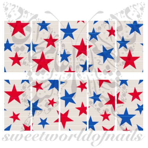 Fourth Of July Patriotic Stars Water Full Wraps