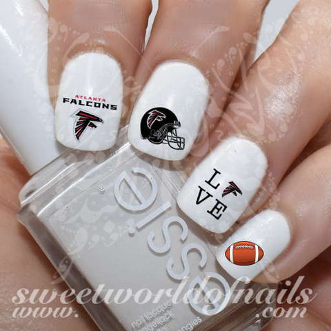 Atlanta Falcons Nail Art NFL Nails American Football Nail Water Decals Water Slides