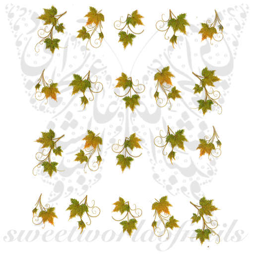 Autumn leaves Nail Art Water Decals