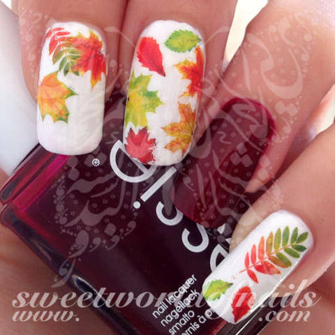 Autumn Nail Art Fall Autumn Leaves Nail Water Decals Water Slides