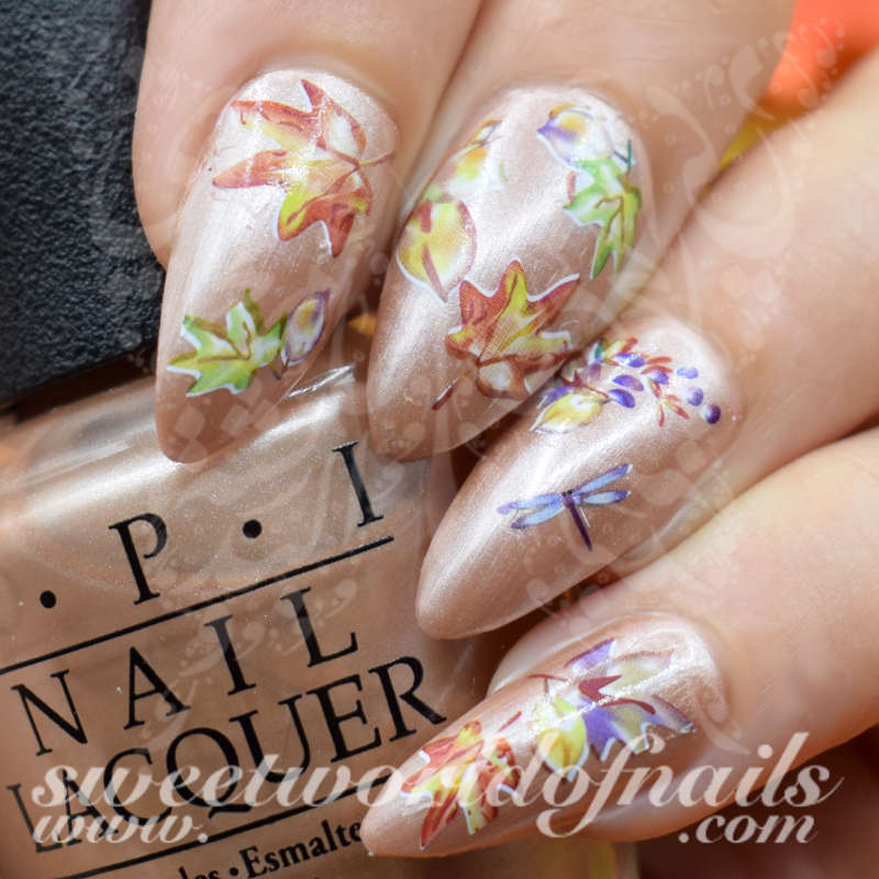 Autumn Leaves Nail Art Collection Nail Water Decals