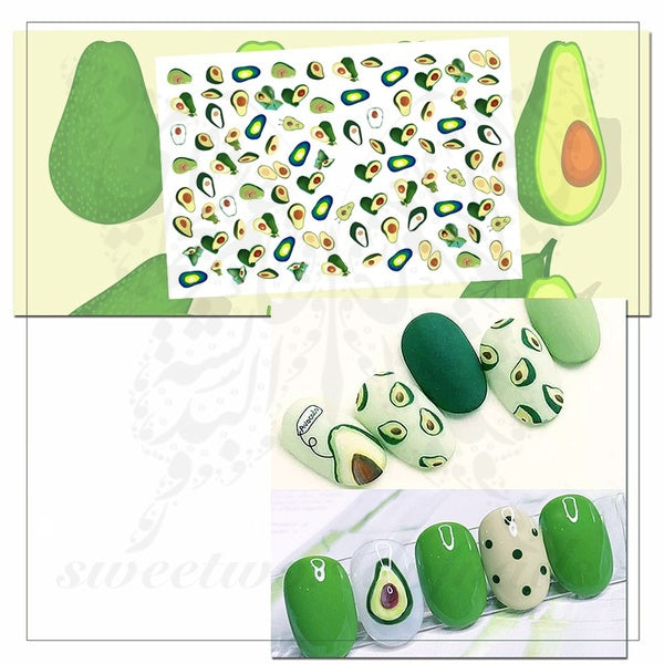 Avocado Nail Art Stickers