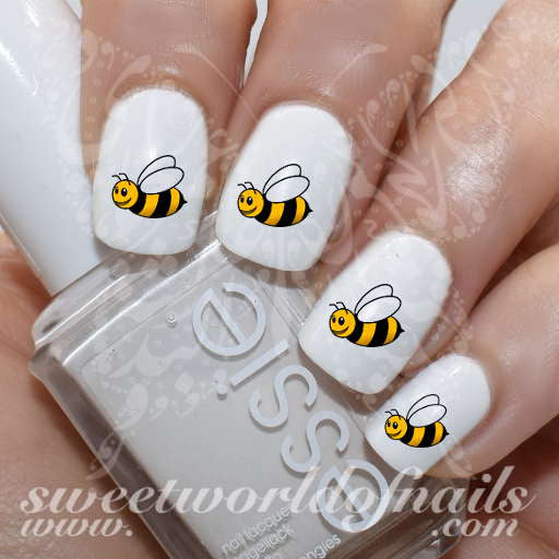 Bee Nail Art Honey Bee Nail Water Decals Wraps