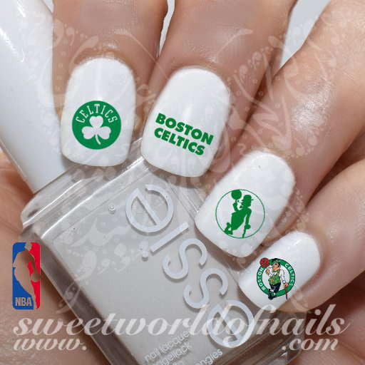 Boston Celtics Nail Art NBA Basketball Nail Water Decals Nail Transfers Wraps