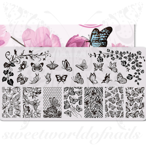 Butterfly Nail Art Stamping Plate