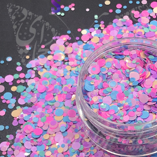 Candy color Round Nail Art Confetti Glitter