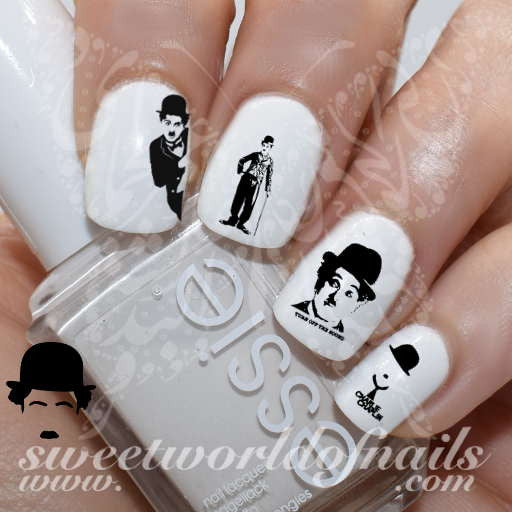 Charlie Chaplin Nail Art Nail Water Decals Slides