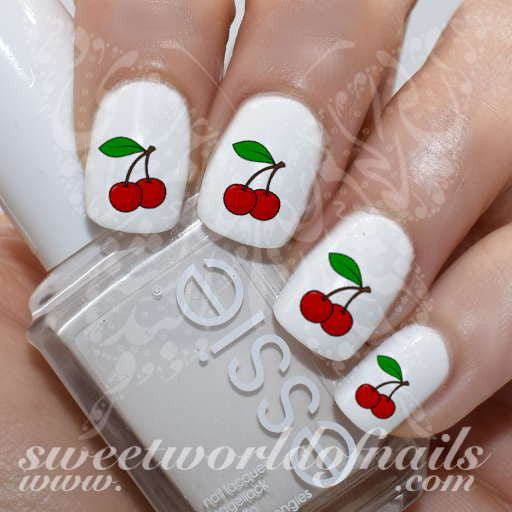 Cherry Nail Art Cherries Nail Water Decals Water Slides