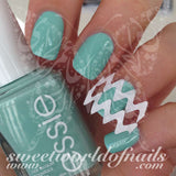 Chevron Nail Tip Guides Stickers / 2 sheets