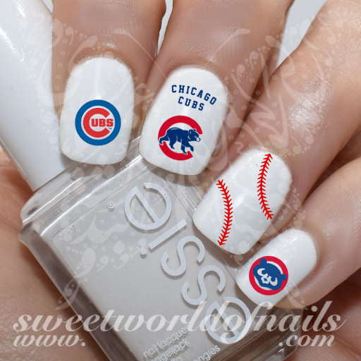 Chicago Cubs Baseball MLB Nail Art Water Decals