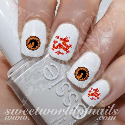 Chinese New Year Dragon Nail Art Nail Water Decals Water Slides