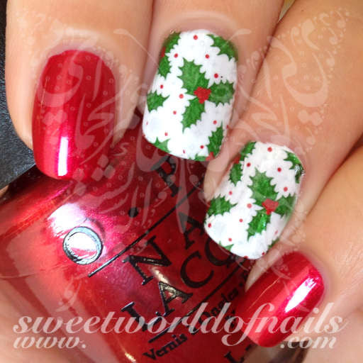 Christmas nail full wraps christmas nail art holly water full wraps transfers prinsesfo Gallery