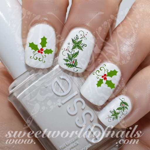 Nails holly berry nail water decals christmas nails holly berry nail water decals prinsesfo Gallery