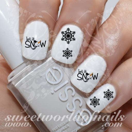 Let S Talk Nail Art: Let It Snow Nail Art Water Decals