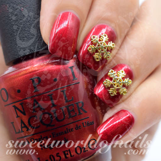 Christmas Nails 3D Gold Snowflake Charms