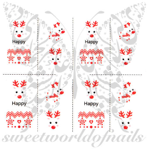 Rudolph the Red-Nosed Reindeer Water Decals