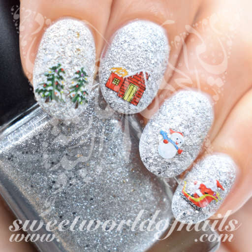 Christmas Nail Art Tree Snowman Nail Water Decals