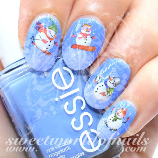 Christmas Nails Snowman Nail Water Decals
