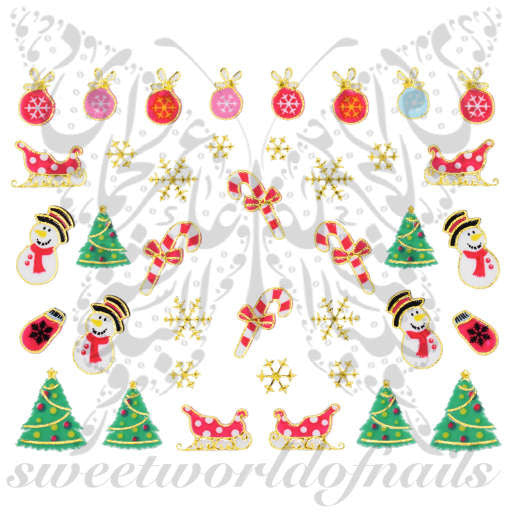 Christmas Nail Art Stickers