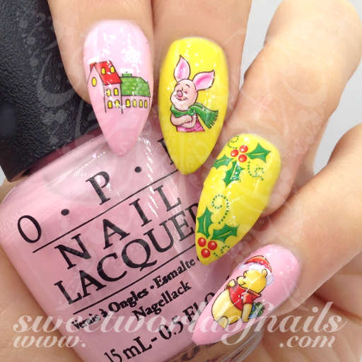 Christmas Nails Winnie The Pooh Piglet Nail Water Decals