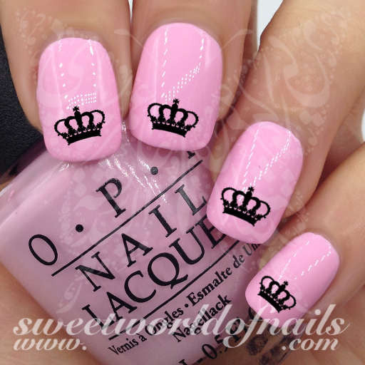 Royal Crown Nail Art  Nail Water Decals Transfers Wraps