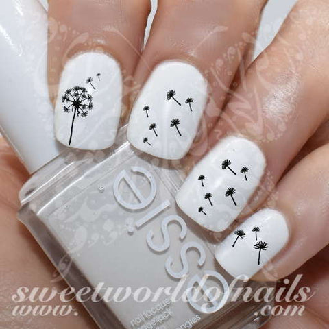 Dandelion Nail Art Nail Water Decals Slides