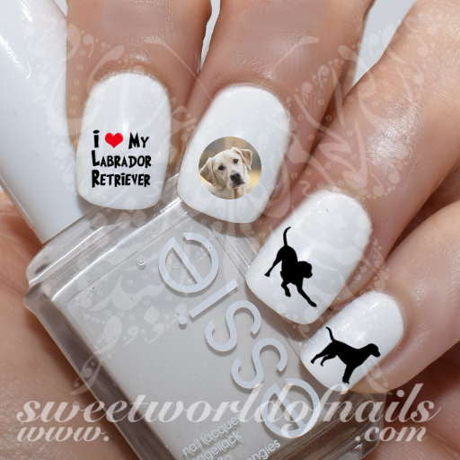 - Dog Nail Art Labrador Retriever Nail Water Decals