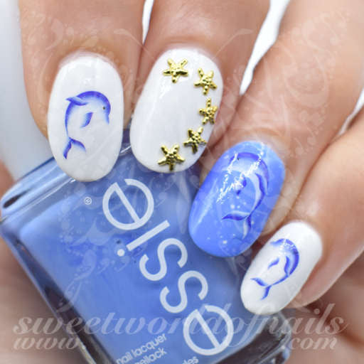 Dolphin Nail Art Nail Water Decals - Nail Art Nail Water Decals