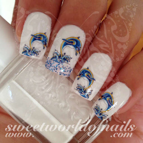 Dolphin Nail Art Dolphins Nail Water Decals Water Slides
