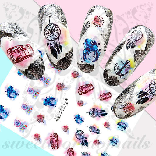 Dreamcatchers and Anchors Nail Art Stickers