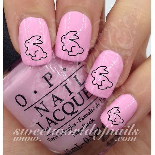 - Easter Nail Art Easter Bunny Nail Water Decals Wraps