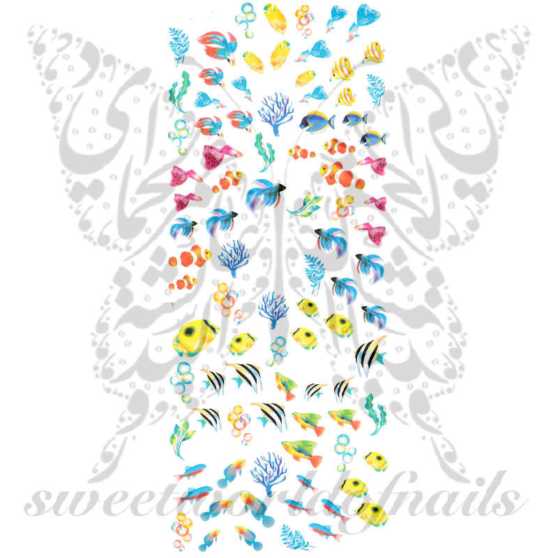 Fish Nail Art Collection Nail Water Decals Slides