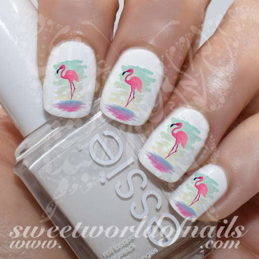 Flamingo Nail Art Nail Water Decals Transfers Wraps