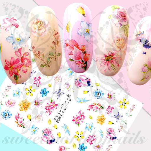Floral Nail Art Spring Summer Flower Stickers