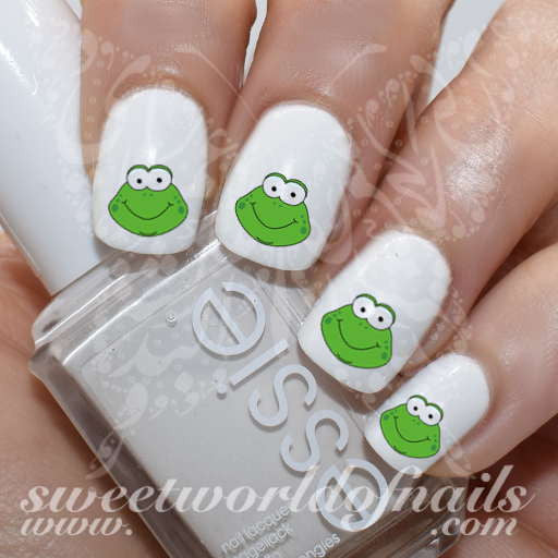Frog Nail Art: Frog Nail Art Cute Frog Nail Water Decals Water Slides