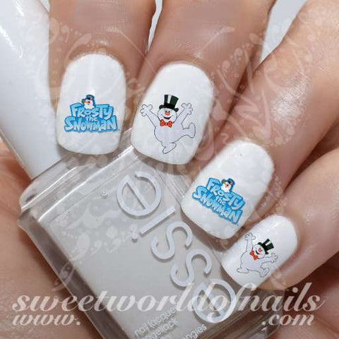 Frosty the snowman Nail Art Water Decals Wraps