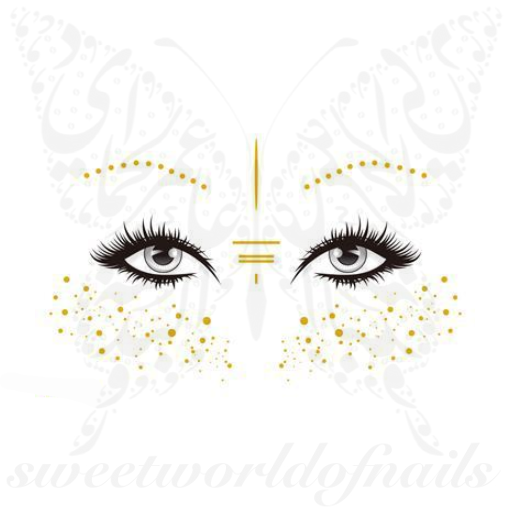 Gold Freckles Temporary Face Tattoos