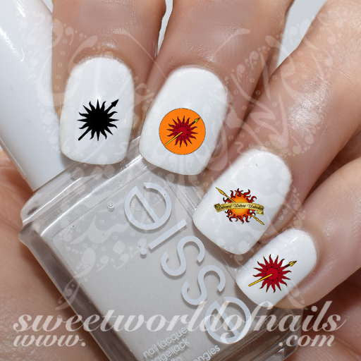 Game of Thrones Nail Art House of Martell Nail Water Decals
