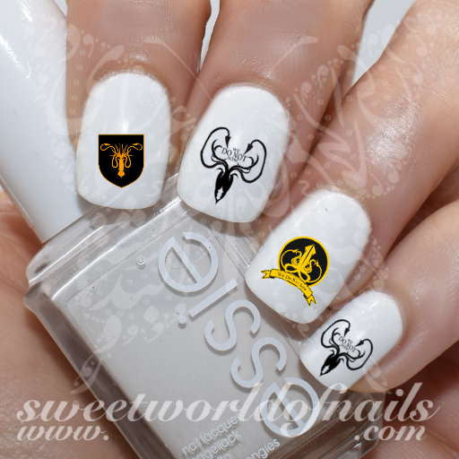 Game of Thrones Nail Art house of greyjoy Water Decals